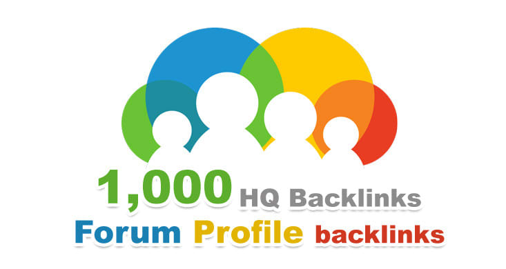 Provode more than 1000 High Quality forum profile backlinks