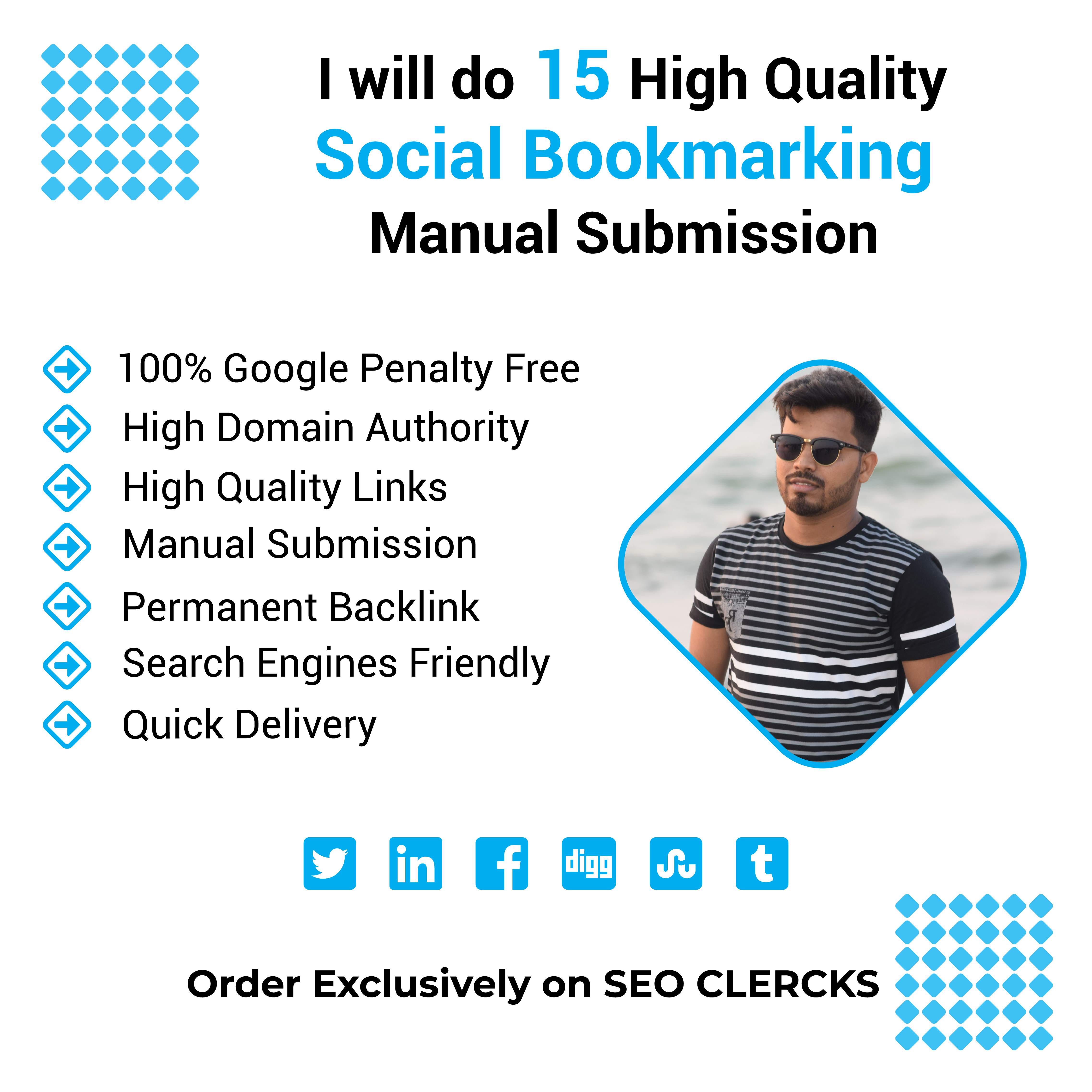 I will do 15 High Quality Social Bookmarking Manual Submission