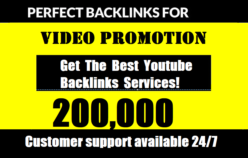 Build 200,000 YouTube SEO Backlinks for Embeds Organic Video Promotion