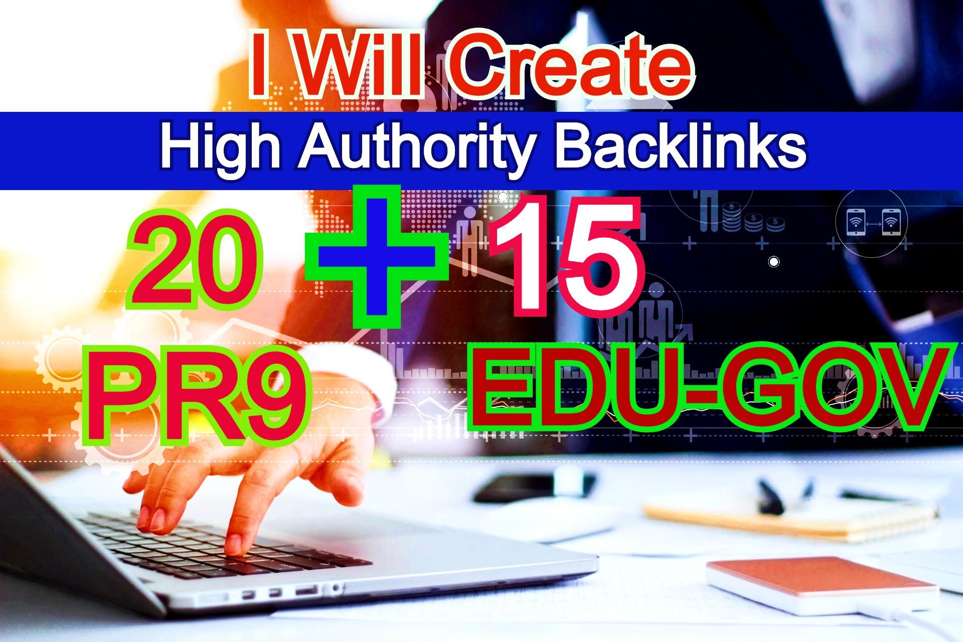 I Will Create High Authority Backlinks 20 PR9 And 15 EDU-Gov Profile Links