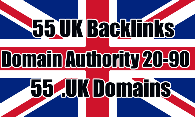 Build 55 uk authority backlinks