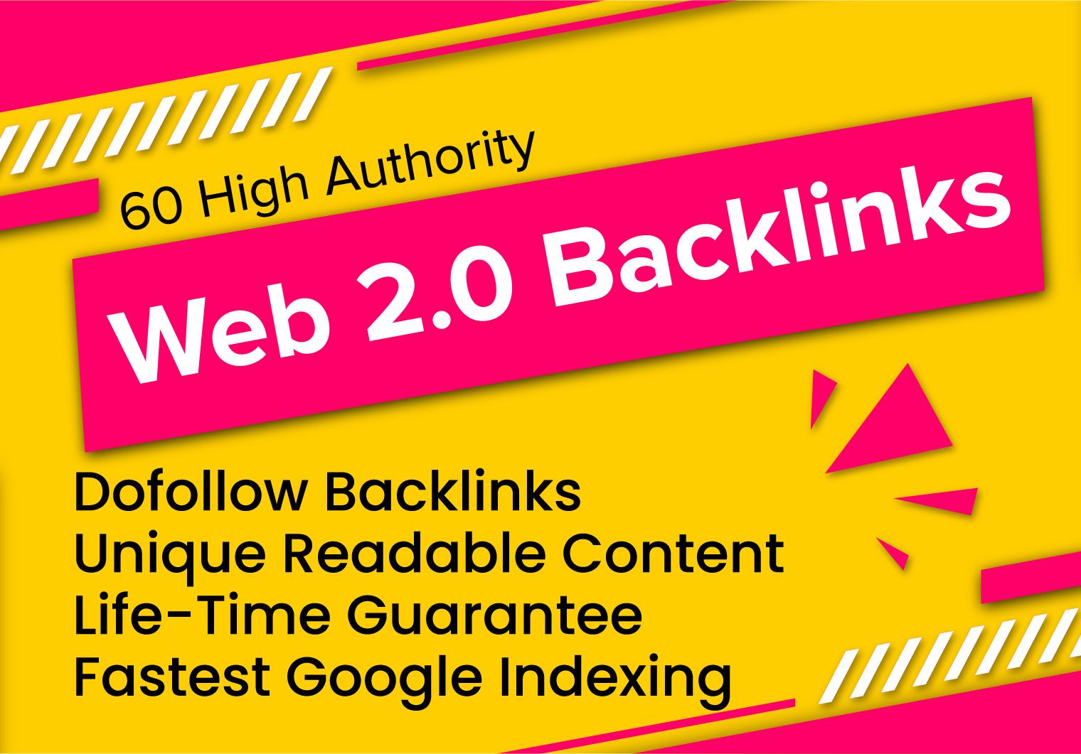 i will setup 15 web 2 0 backlinks with unique contextual links