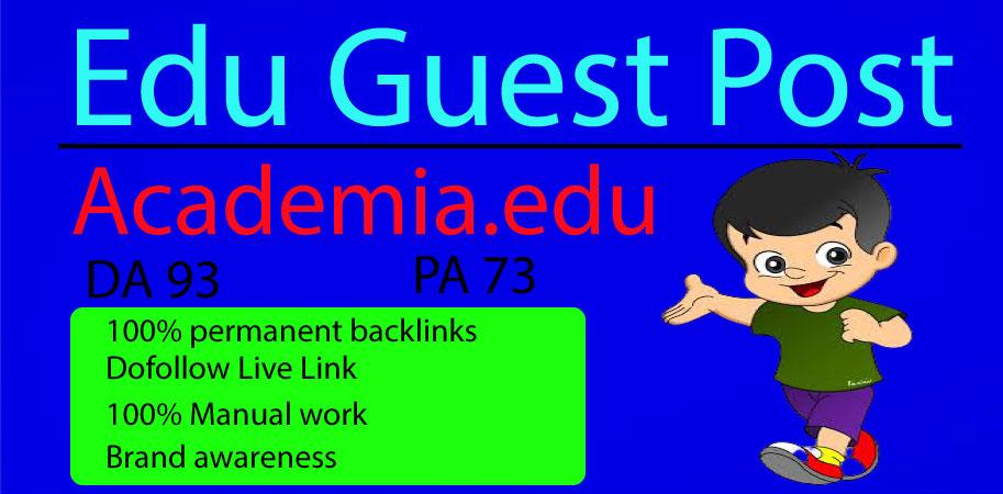 I Will Write and Publish Guest Post on Academia. edu DA 93