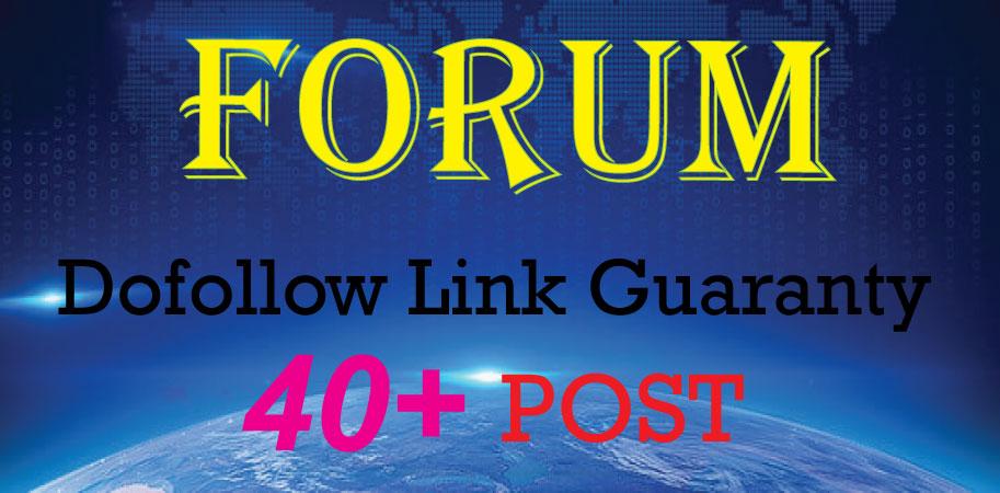 Create Manually 40+ Forum Posting Backlinks Dofollow Link Approval Guaranty DA 30 to 100