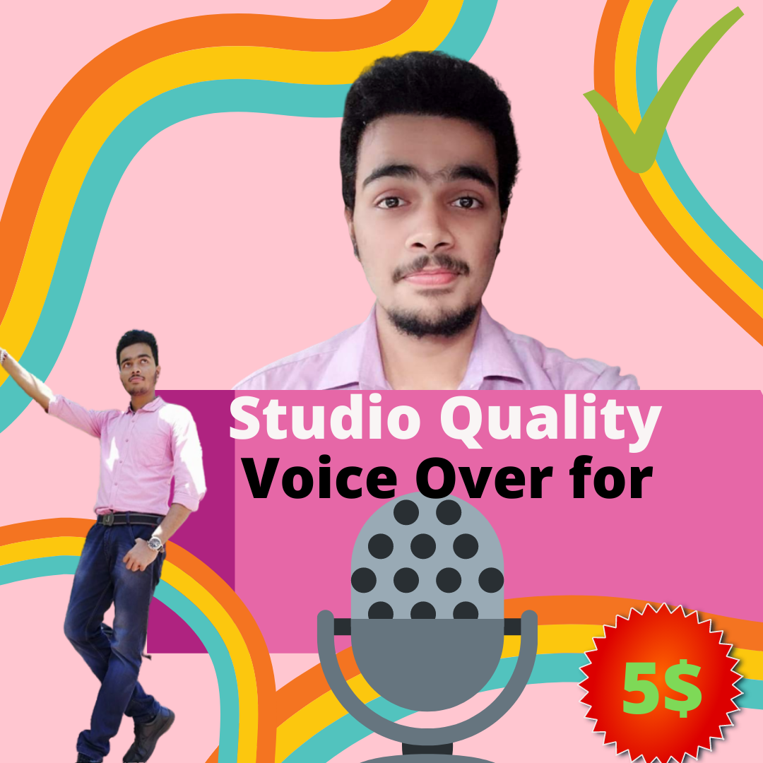 Studio Quality Indian Voice-over for cheap