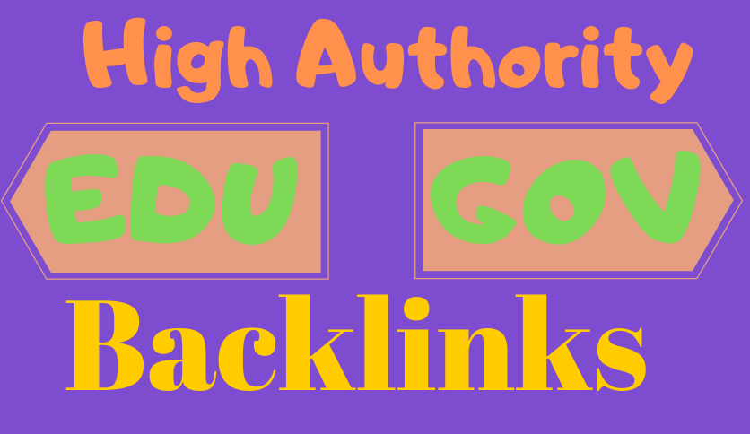 I will do manually 100 edu gov backlinks google rank for your website