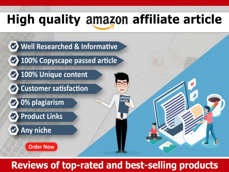 I will write 500 words SEO friendly amazon affiliate articles