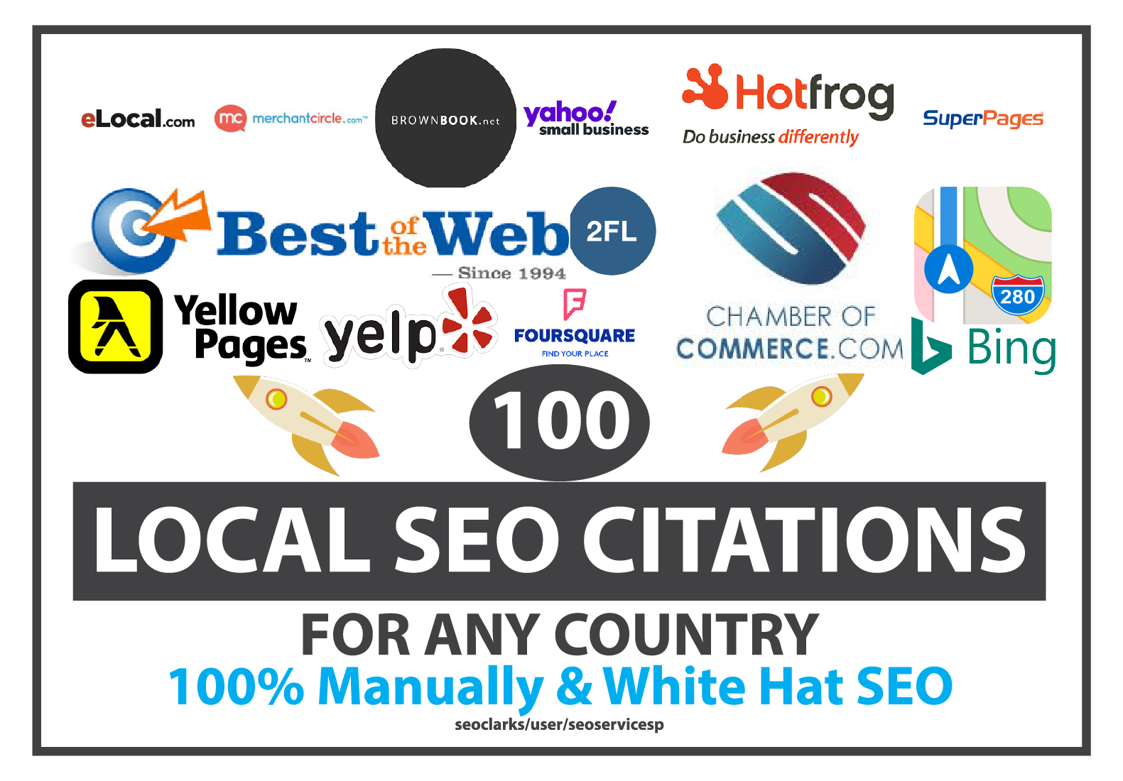 Manually Build Top 100 Local SEO Citations or Local Listing