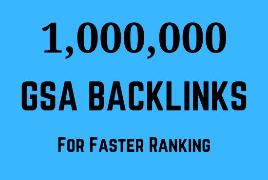 1 Million GSA SER dofollow backlink for seo ranking