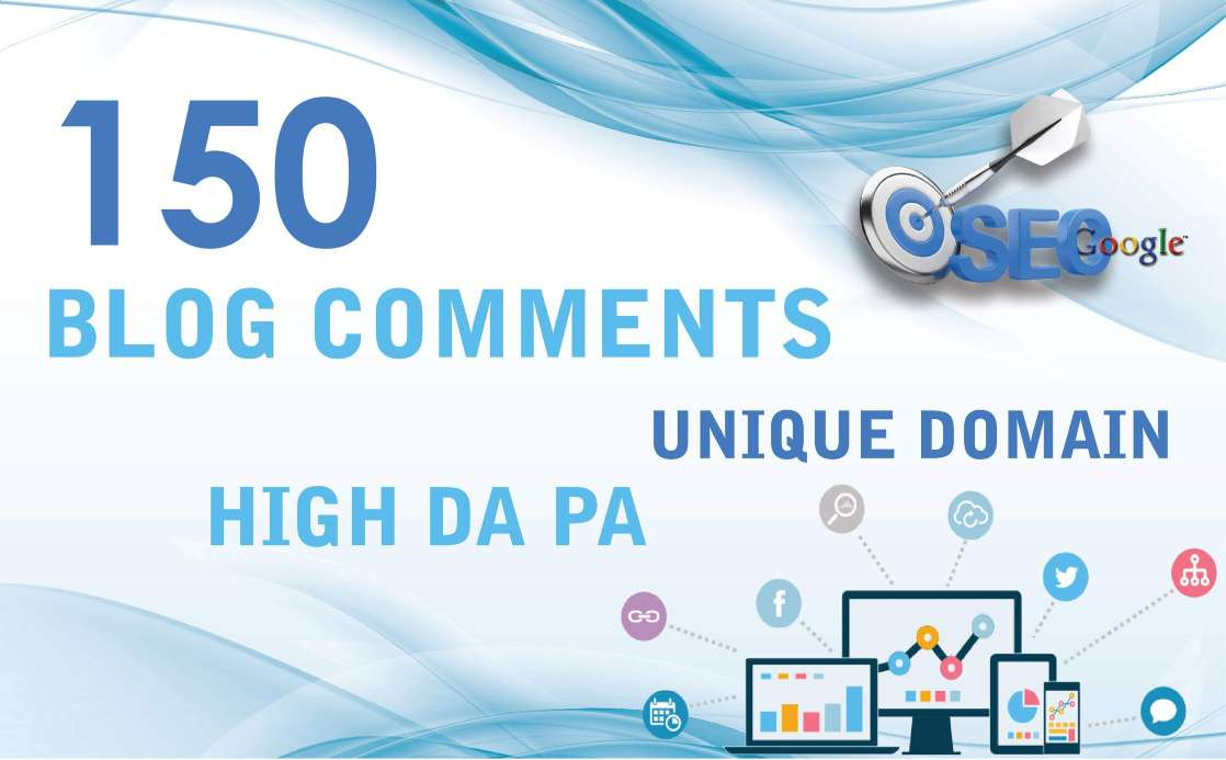 create 150 unique domain high quality blog comments