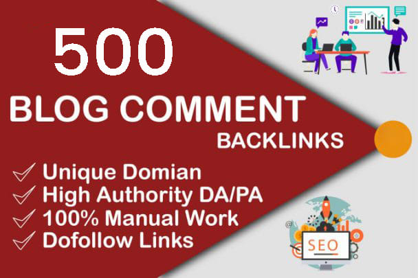 create 500 blog comment seo dofollow backlinks on unique domain