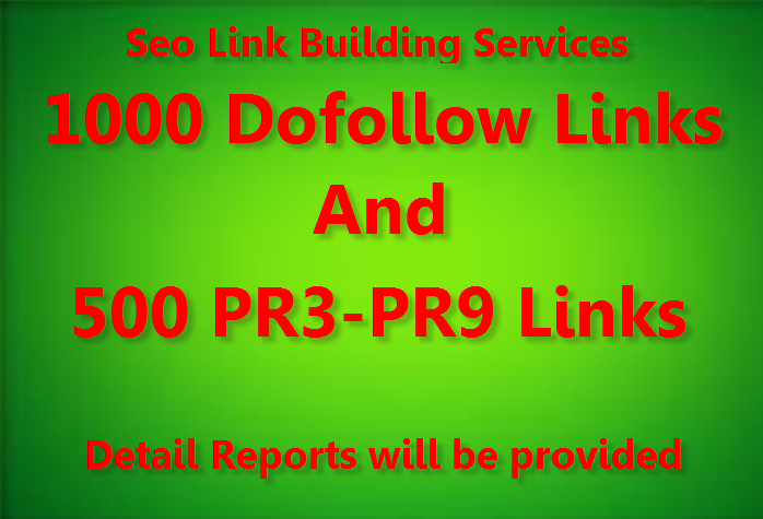 Diversify Link Building Services - Get 1000 Do Follow and 500Pr3 to Pr9 Backlinks