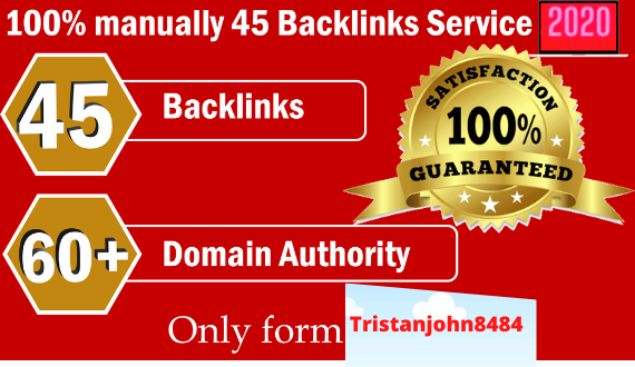 Create 45 Backlinks from High DA-60+ Domains-Skyrocket your Google RANKINGS NOW