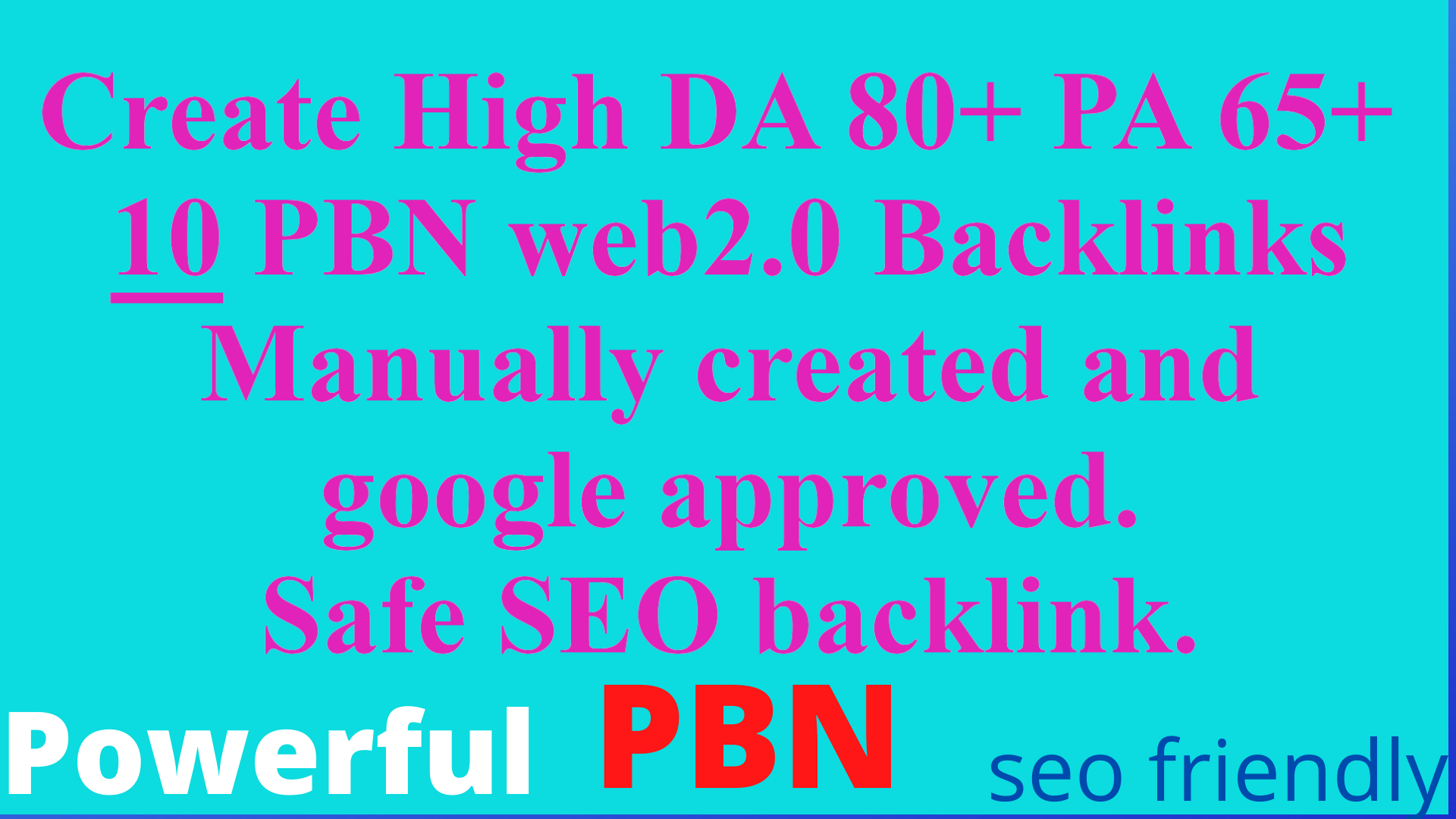 we will build Web 2.0 permanent 10 PBN Unique Sites DA 80+ PA 65+