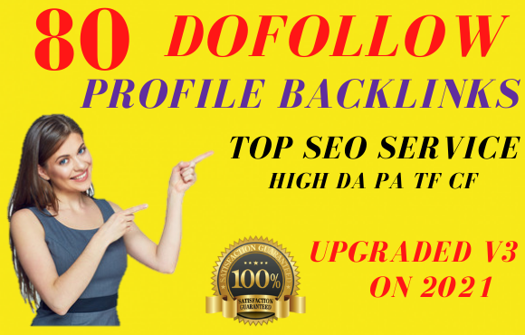 i will create pr9 80 dofollow SEO profile backlinks for your website