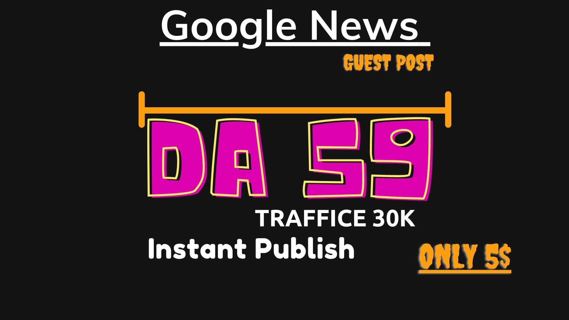 I will guest post on my da 60 google news approved site all niches