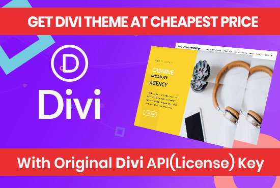 Divi Theme and Divi Builder with License and Unlimited Usage | Updatable