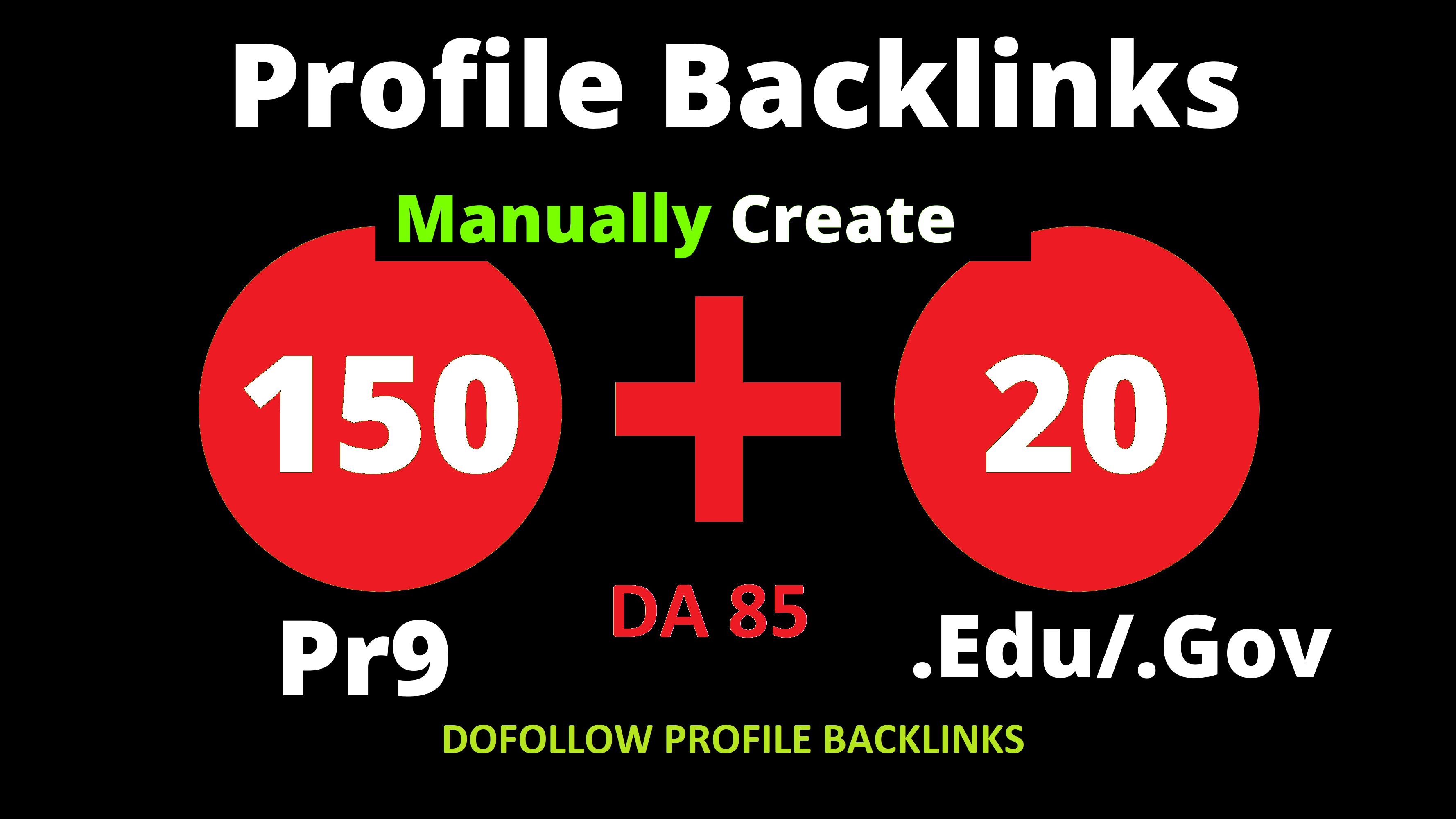 150 Pr9 + 20 Edu/Gov Pr9 High Authority Profile Backlinks To Boost Your Website Ranking 2021
