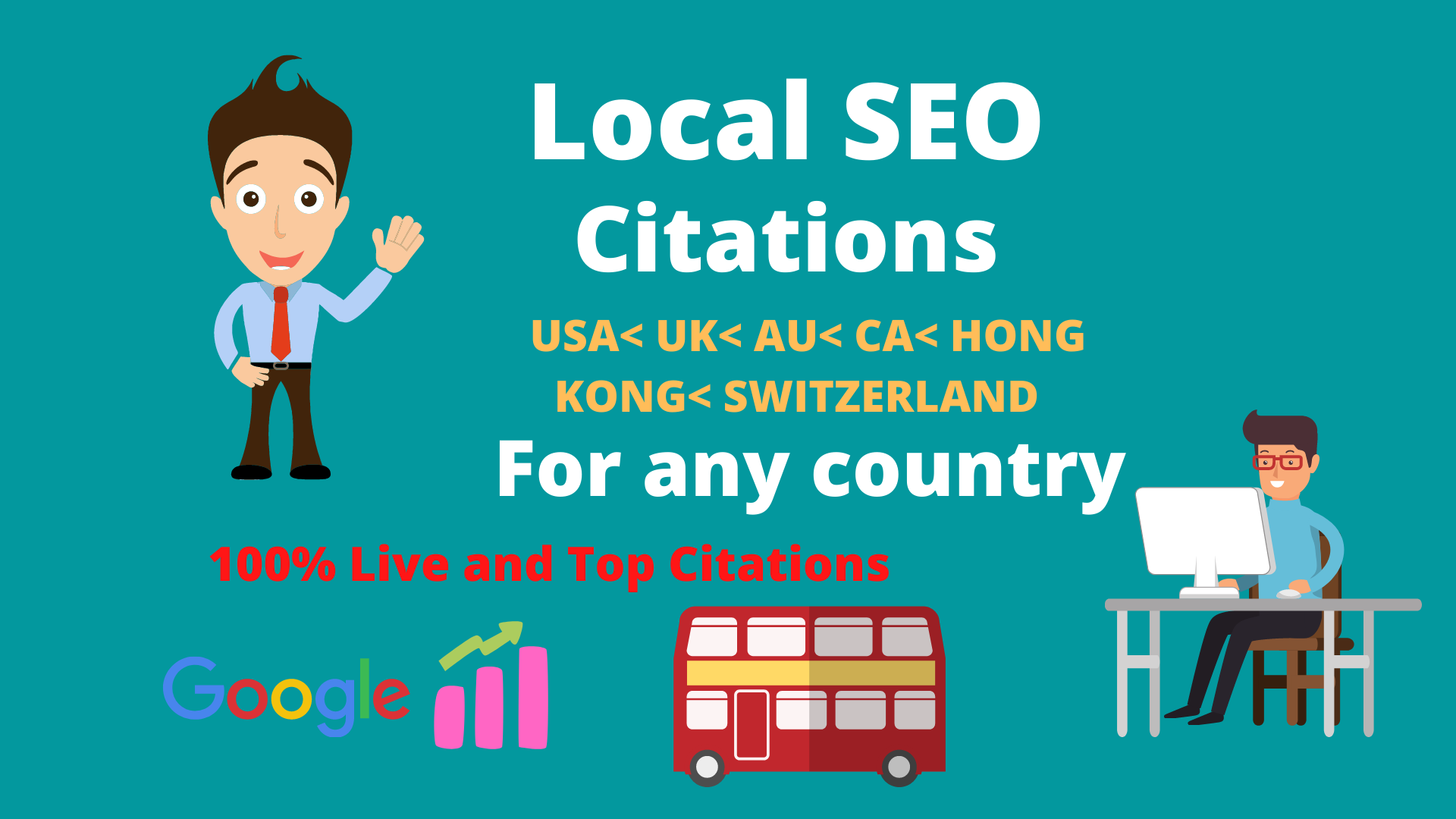 Create top 30 Live local citations or local SEO for any country