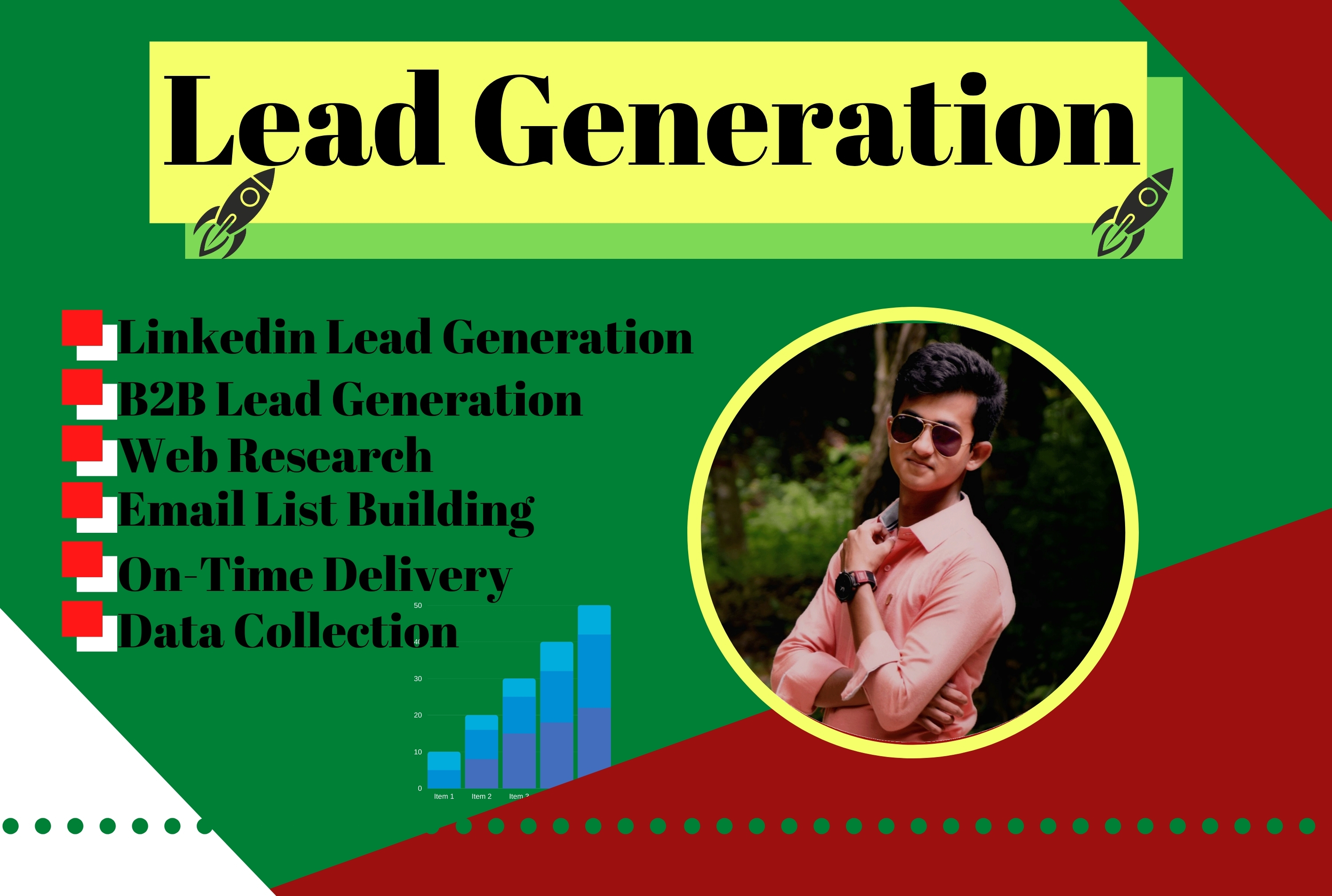 100 Targeted b2b lead generation and web research