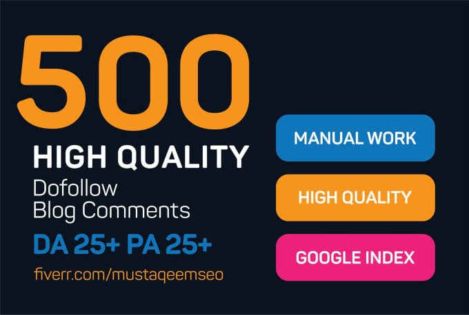 Do 500 Niche Relavant Blog Comments High Quality SEO Backlinks