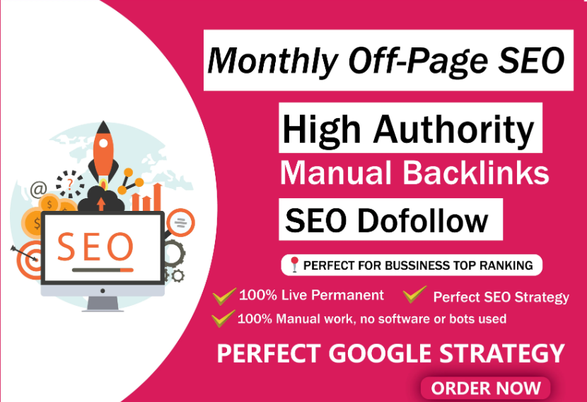 Monthly SEO service and pro link building for top rankings