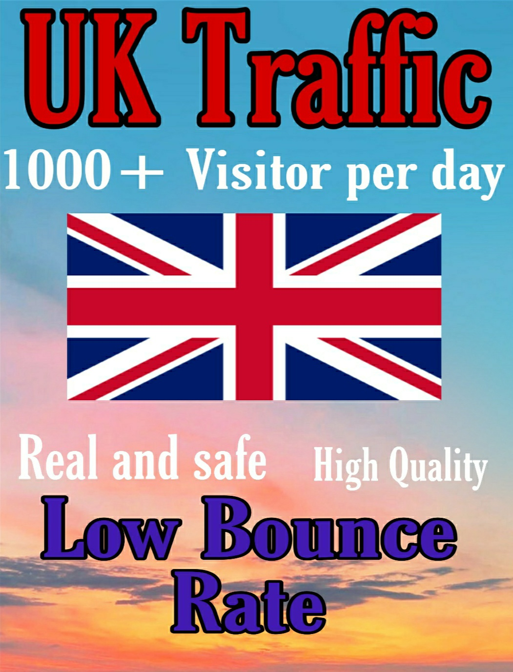 Drive Safe Organic UK traffic for 30 days