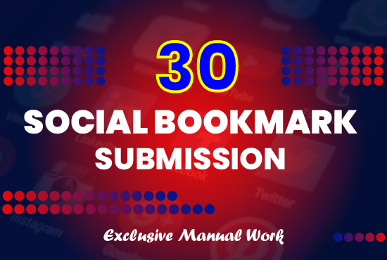 Complete SEO Pack with Manual Link Buildings: Get 30 Social Bookmarks, Check for extras