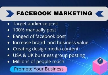 I will promote your business through Facebook marketing over millions of target people