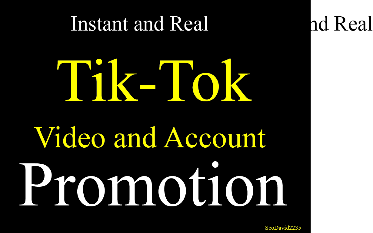 Instant Your Video and Account Marketing Professionally