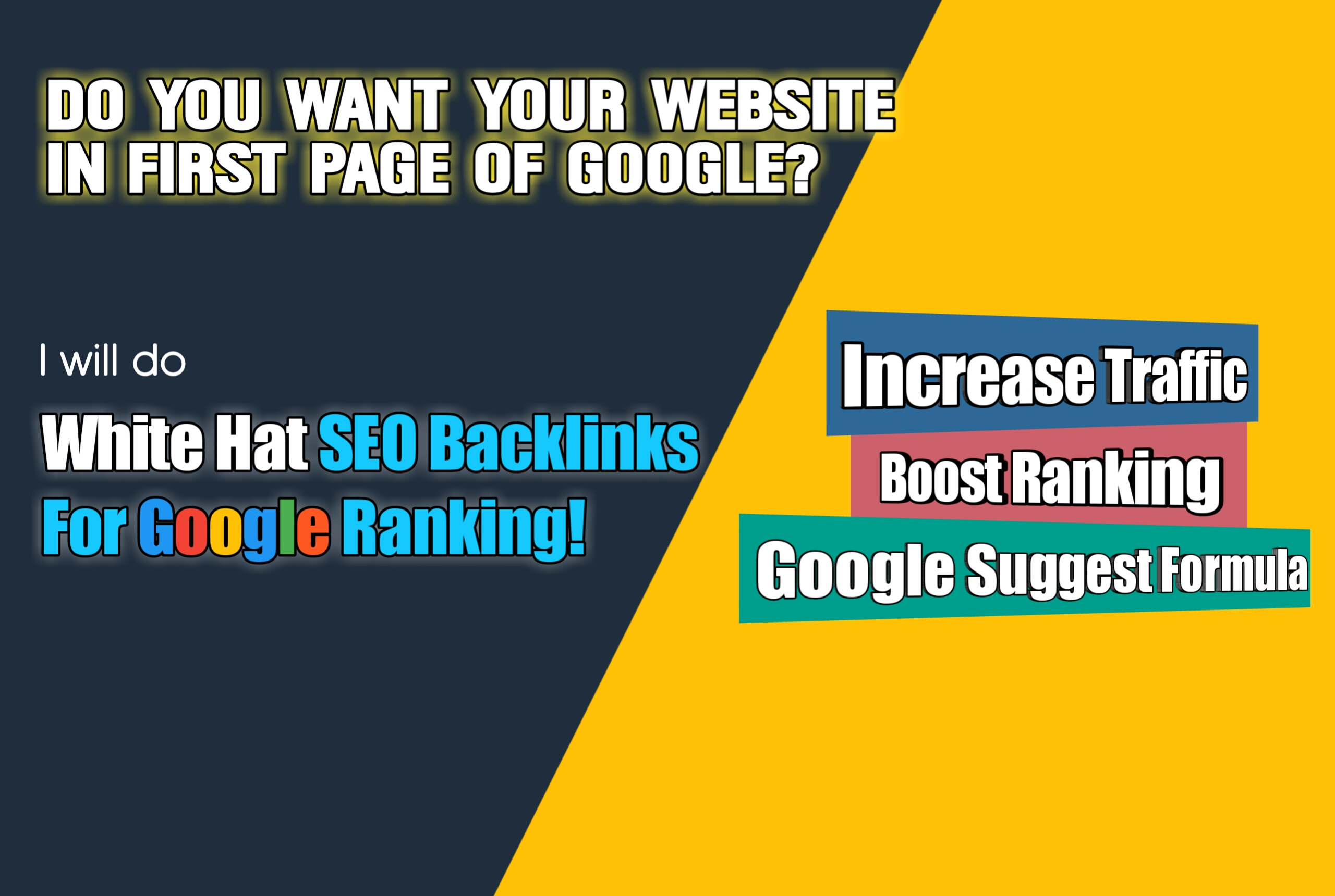 I will Rank your website in google with High Quality SEO Backlinks