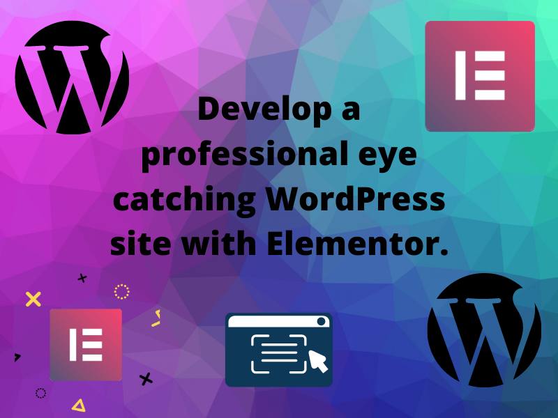 I will create a professional eye catching WordPress site with elementor