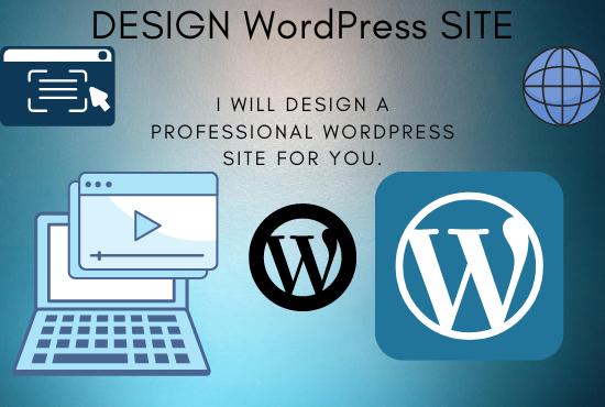 I will create a professional WordPress site
