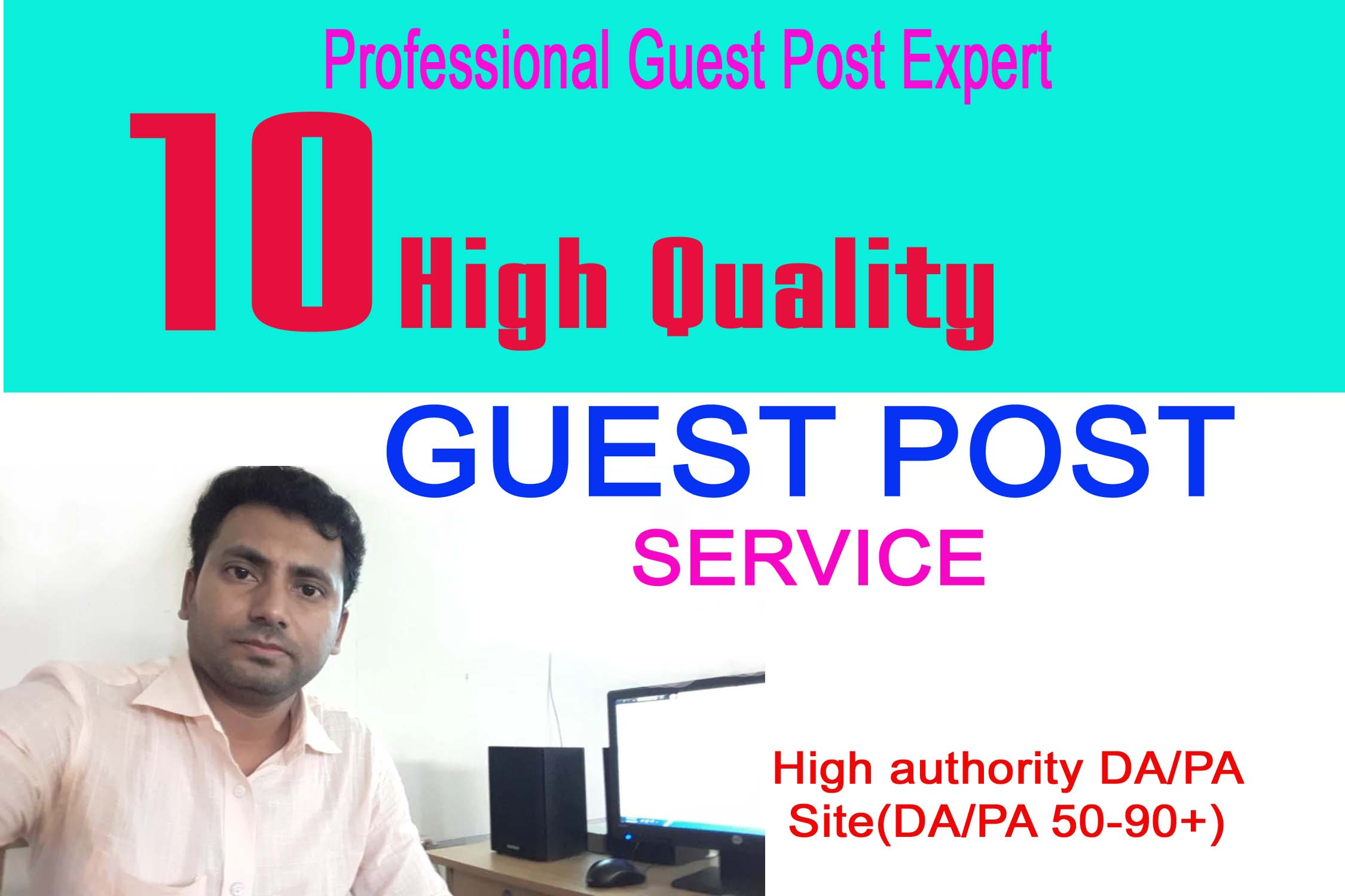 I will publish 10 guest post with high DA 80 Plus Site