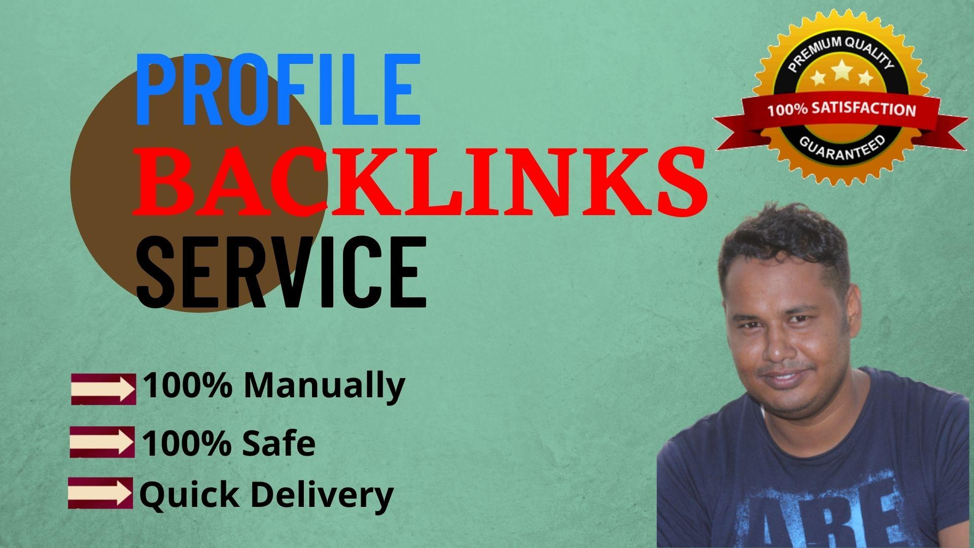 I Will Manually Provide 100 Dofollow Profile Backlinks