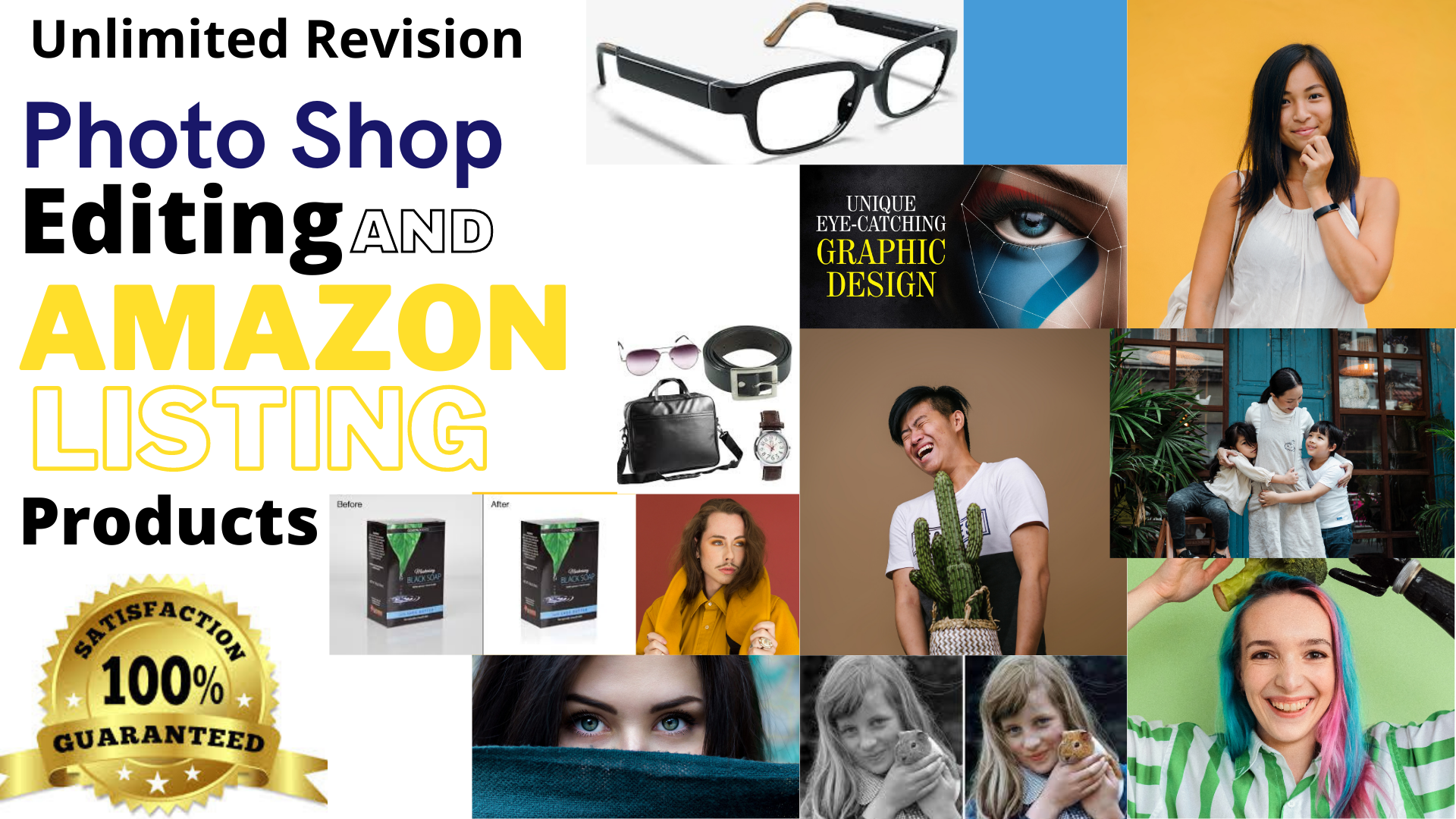 I will provide Creative Graphic Designing and Photoshop Amazon Listing Services