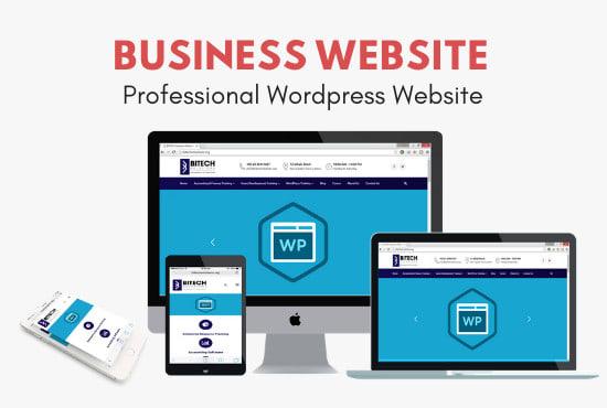 I will create business word press website design