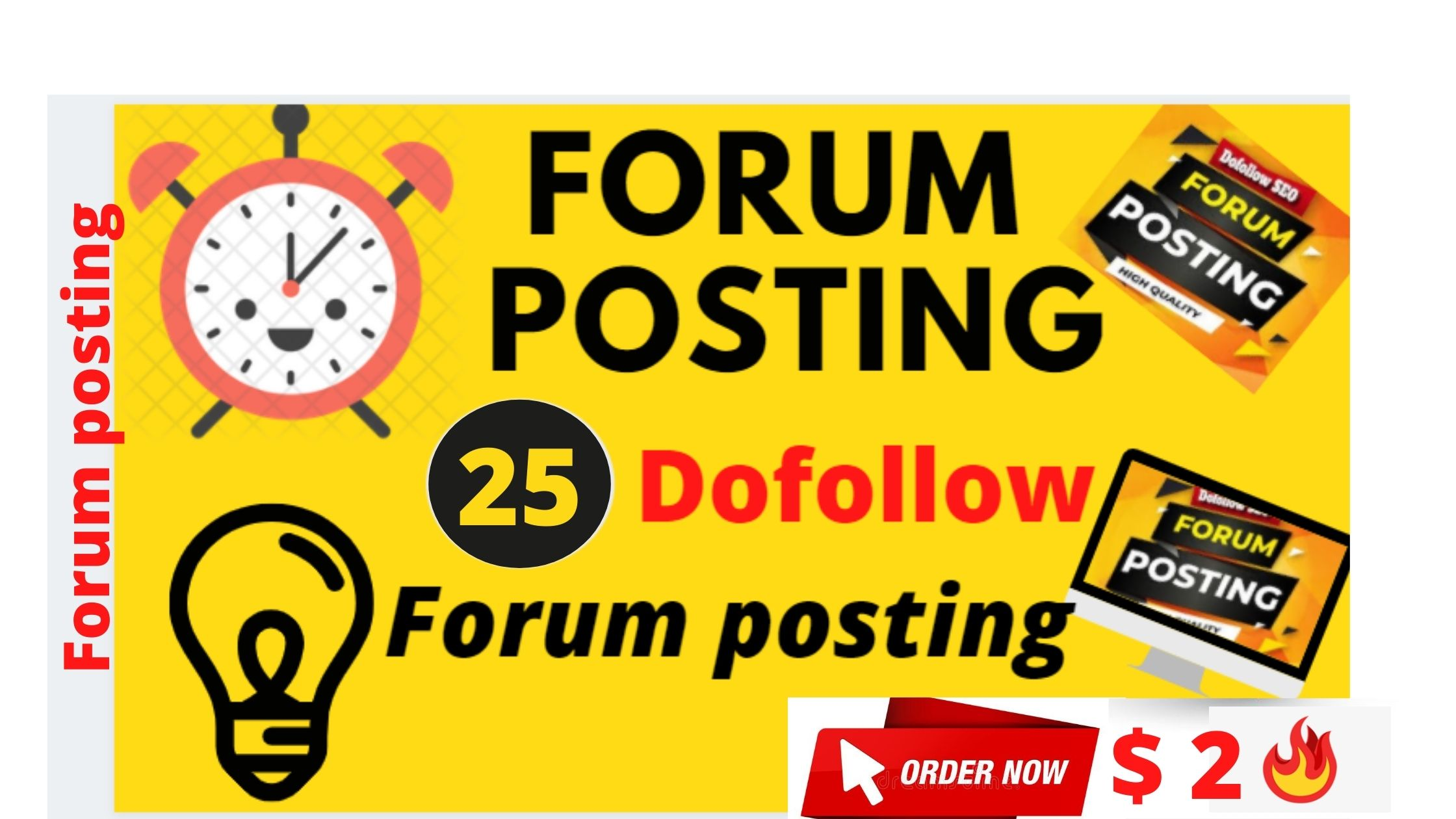 provide 25 dofollow forum backlinks on high DA sites