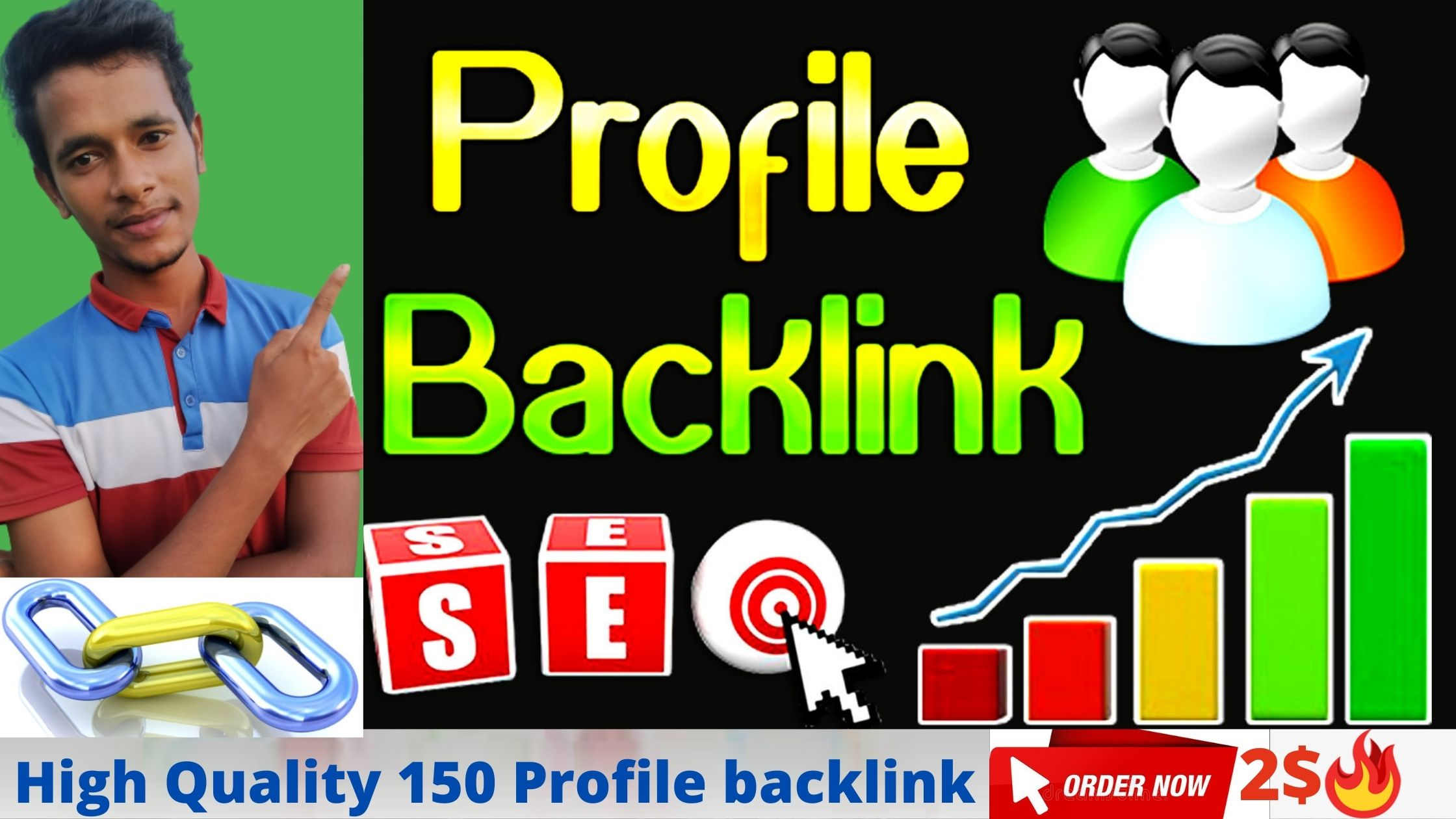 I will create Manually high DA profile backlinks with 150 Dofollow sites