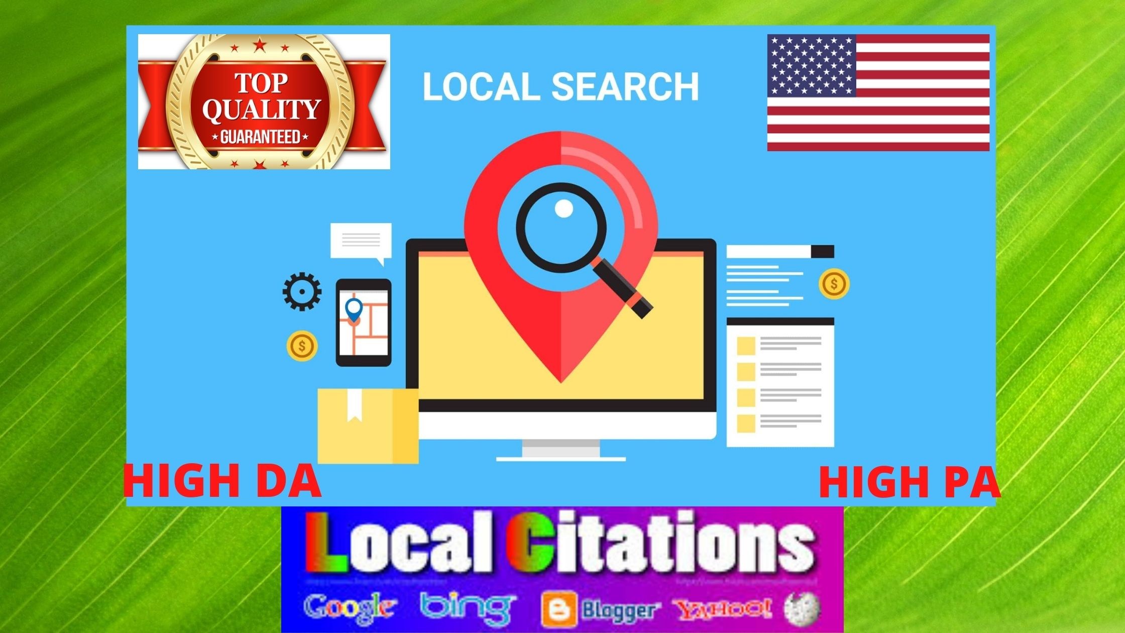 I will Create 25 live local Citations for local Business listing