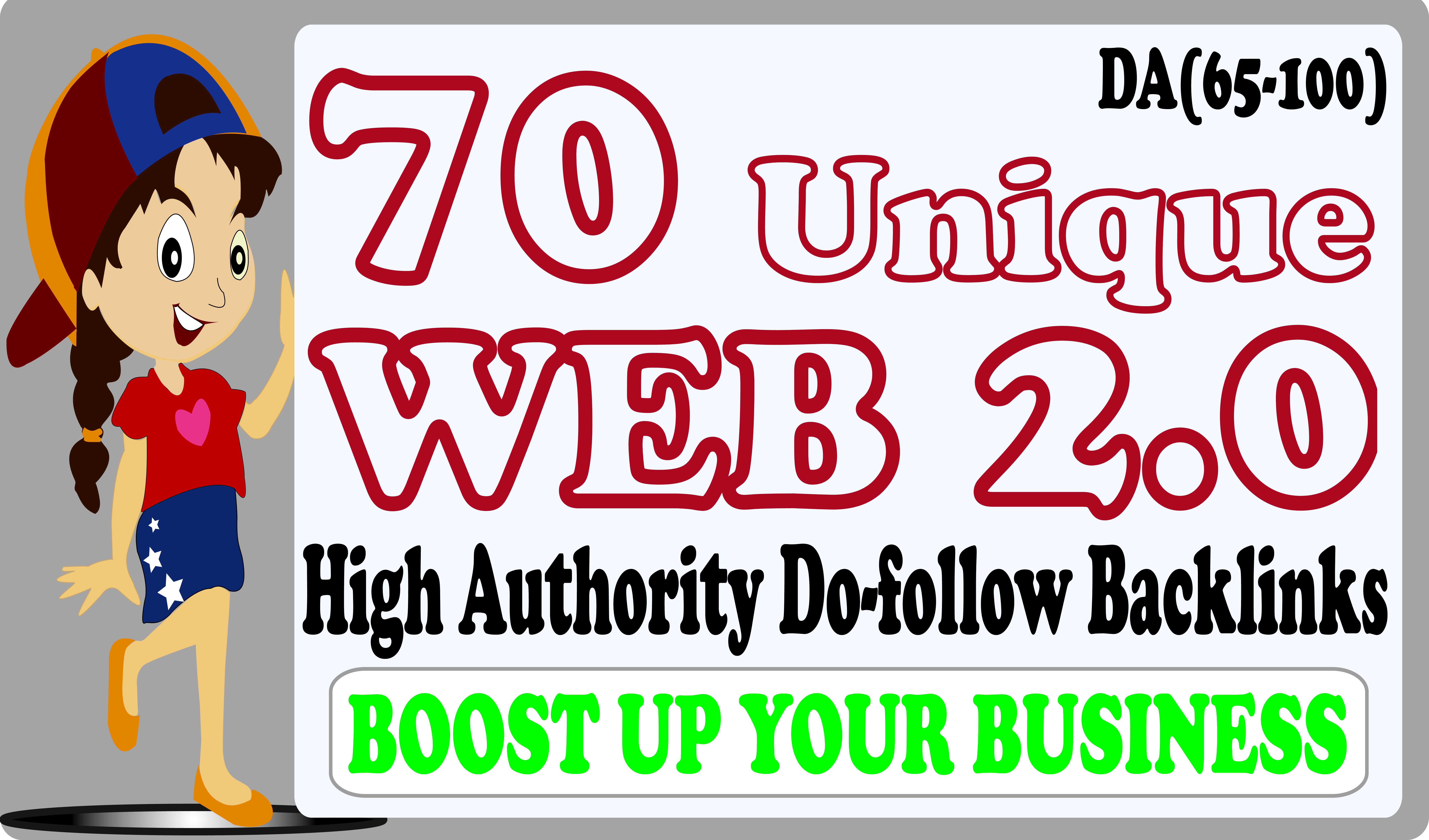 I Will Do 70 Unique High Authority Do-follow Web 2 0 Backlinks