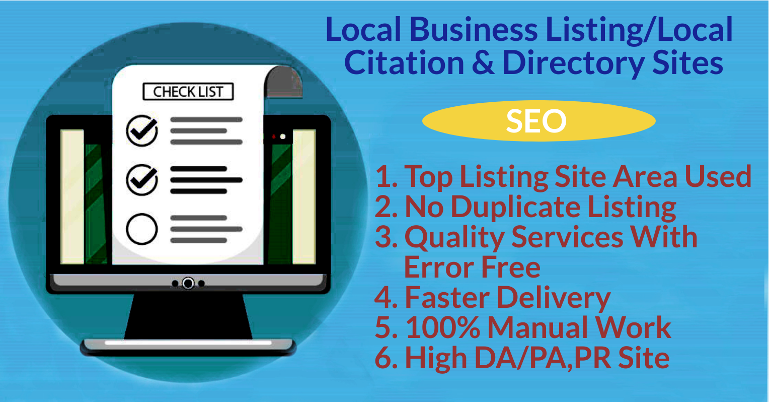 I will manually post 100 local listings citations for UK/USA business
