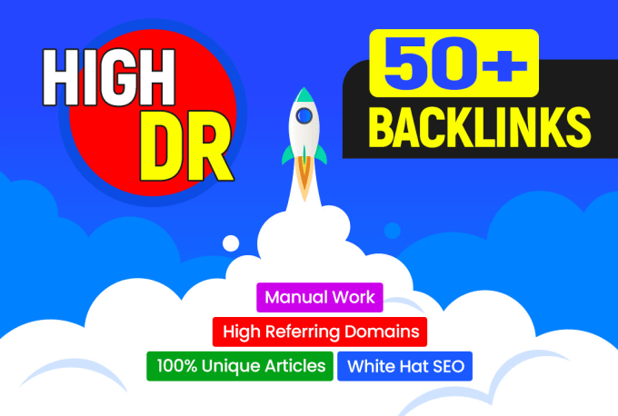 I will do 20 high authority DR 50 to70 plus dofollow backlinks off page seo