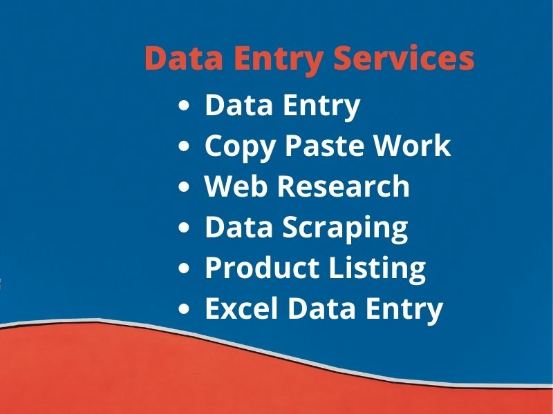 I will do data entry, copy paste, typing and data entry work
