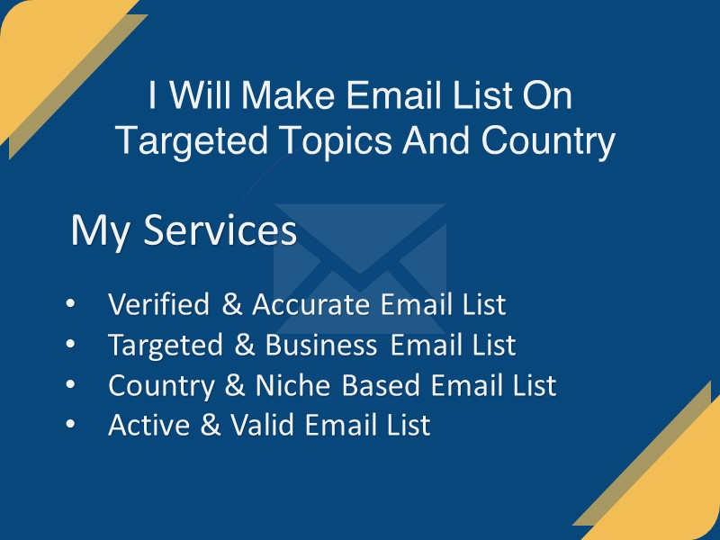 I Will Make 1K Email List On Targeted Topics And Country