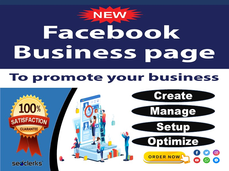 I will create,  manage and optimize your facebook business page