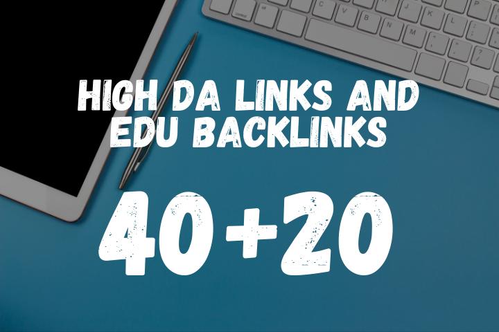 40 Pr9 and 20 EDU High DA Backlinks