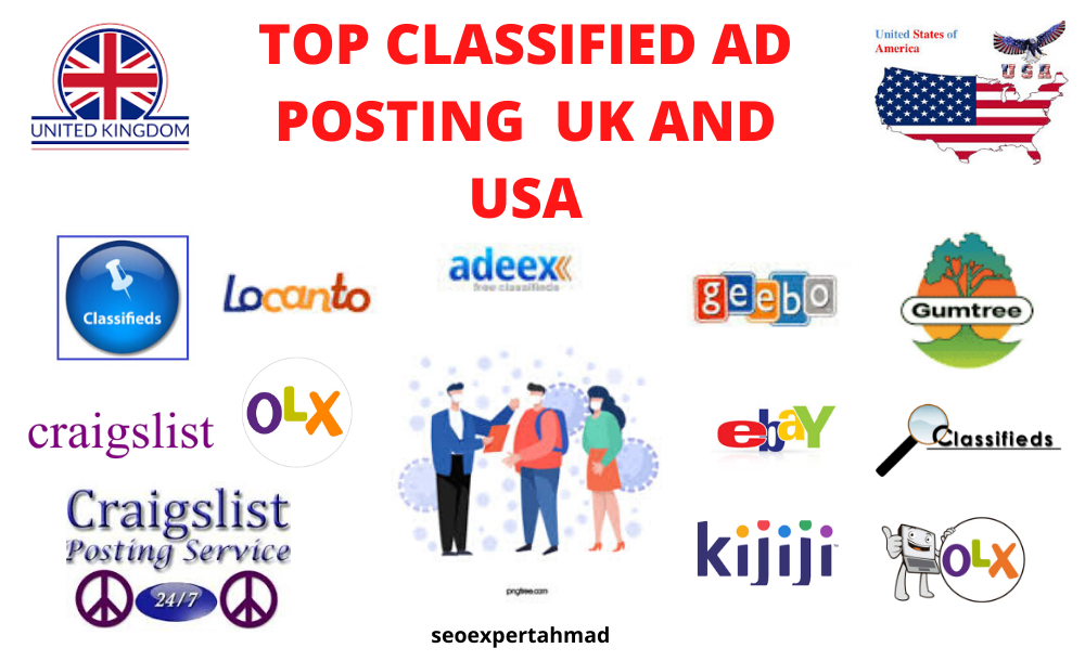 post your ad to top USA and UK classified ad posting sites