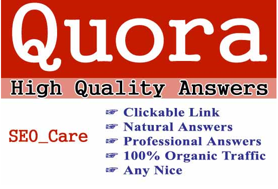 Guaranteed targeted traffic with 50 unique Quora answer