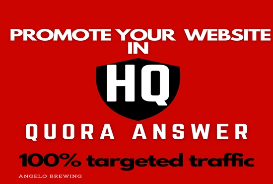 Guaranteed targeted traffic with 15 unique Quora answer